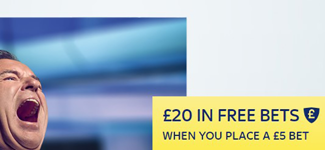 Bet only five GBP with SkyBet and get 20 GBP as a bonus!