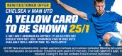 New customer offer by Coral bookmaker lets you guess if a yellow card to be shown!