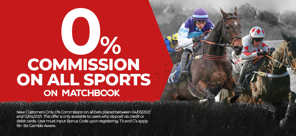 Join Matchbook bookmaker with 0% Commission!