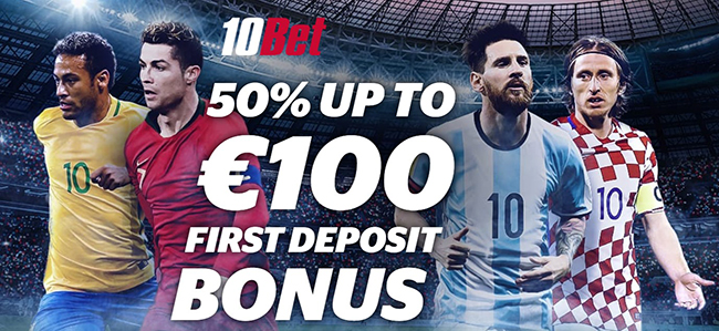 10Bet bookmaker new welcome offer up to 100 Euros!