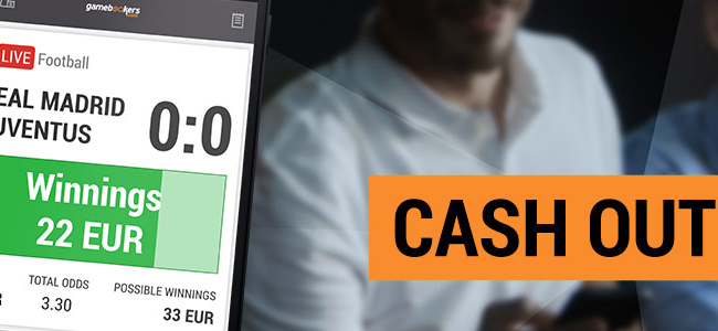 Gamebookers allows you to control your stakes with Cash Out option!