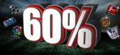 Multiply your cash by 60% with Winmasters bookie!