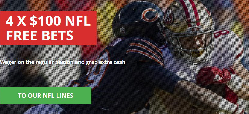 Free bets on American Football by Intertops!