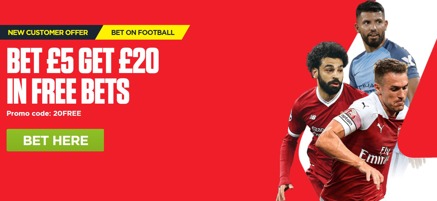 Ladbrokes new invitation promo lets you get 20 GBP in free bets!