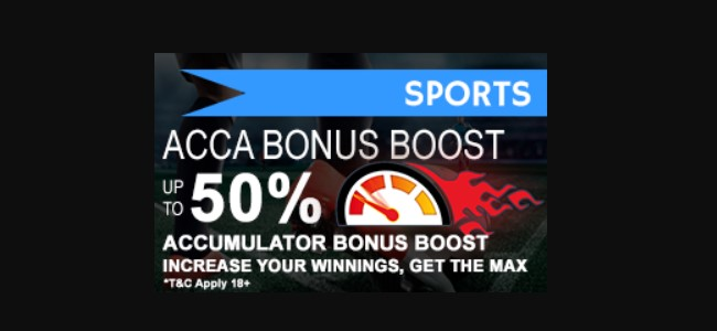 Accumulator promo of 50% by 1x2Masters bookie!