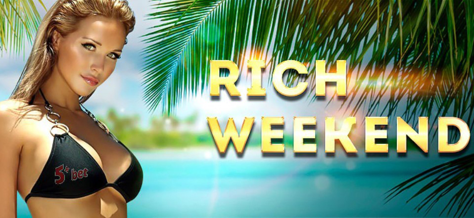 5Plus bookie Rich Weekend Bonus 100% on your deposit!