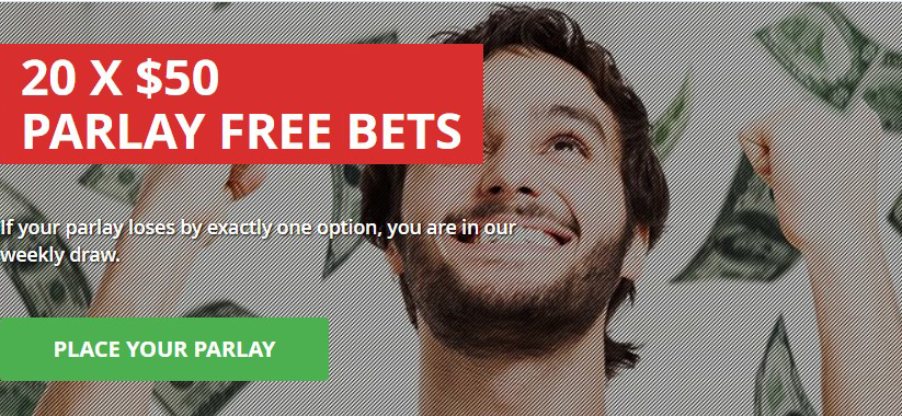 Intertops offer of 20x50 USD free parlay bets is on!