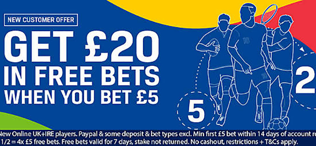 Coral 20 free betting 100% betting tips