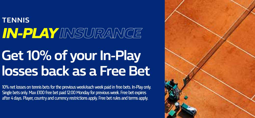 William Hill gives free bets on tennis!