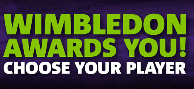 Wager on your favorite tennis player to win Wimbledon and get a free bet every time they win!