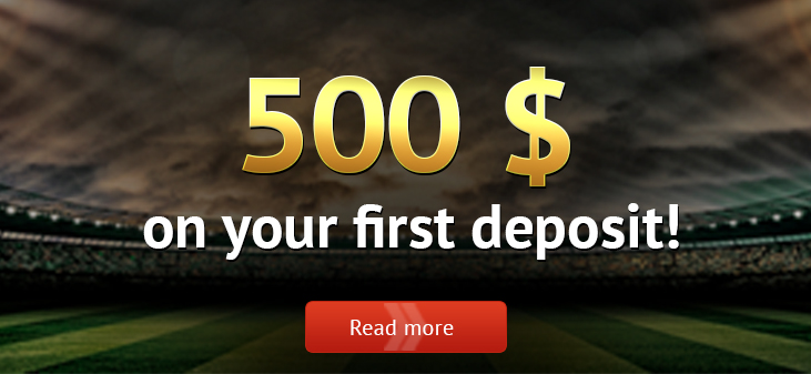 Pin-up bookie welcome you with a bonus of 500 USD!