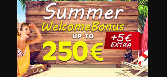 Deposit on your Betn1 account and you will receive a 100% Welcome Bonus on your deposit up to €250 + additionally 5€ free bonus – no wagering required!