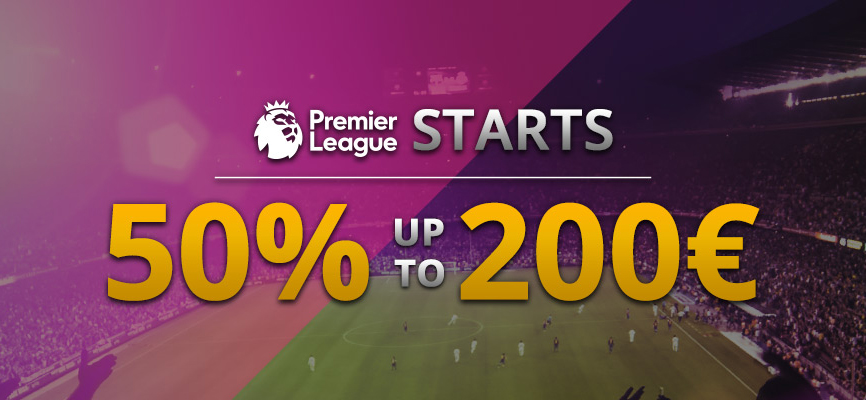Get a Sports Bonus of 50% to wager on Premier League matches with 18Bet bookmaker!