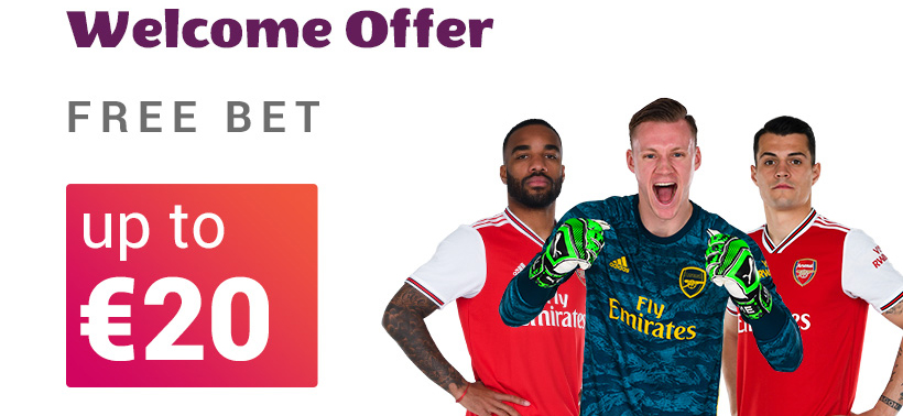 VBET bookmaker invites new customers with a Free bet offer of up to €20!