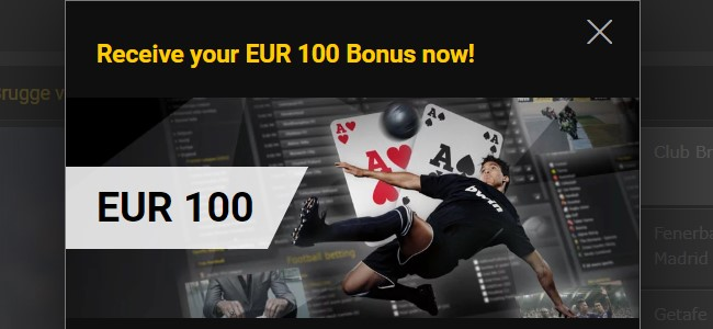 Receive your EUR 100 Bonus from Bwin bookmaker now!