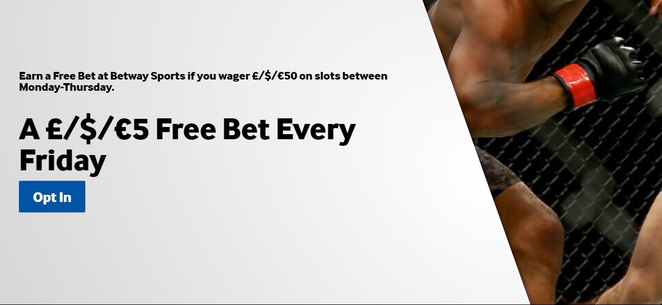 Friday Free bet with Betway bookmaker!