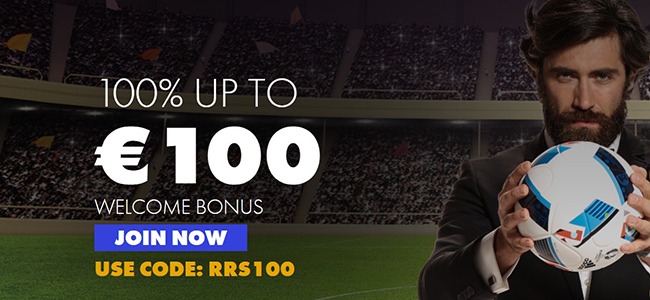 Roy Ritchie bookmaker promo of 100% up to 100 EUR