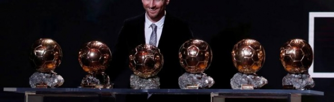 Messi took sixth Ballon D'Or