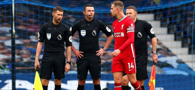 Liverpool complained about referees in match with Everton