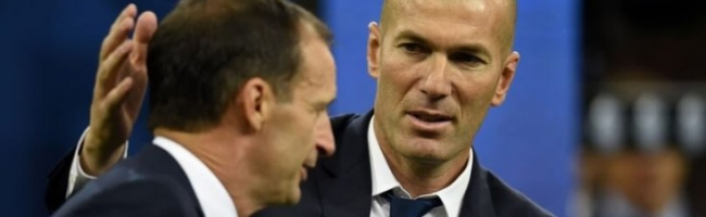 Allegri is expected at Milan and Zidane at Juventus