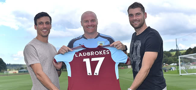 Burnley have approved a contract with Ladbrokes