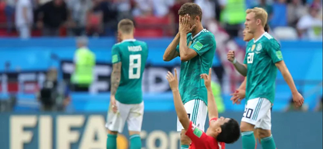 Germany left the World Cup with disgrace