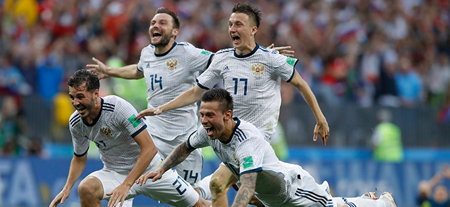 Russia sensationally advanced to the round of 8 in the 2018 WC