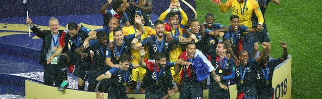 France national team becomes the champion of the world