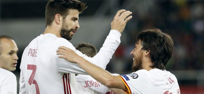 Pique and Silva said goodbye to the Spain national team