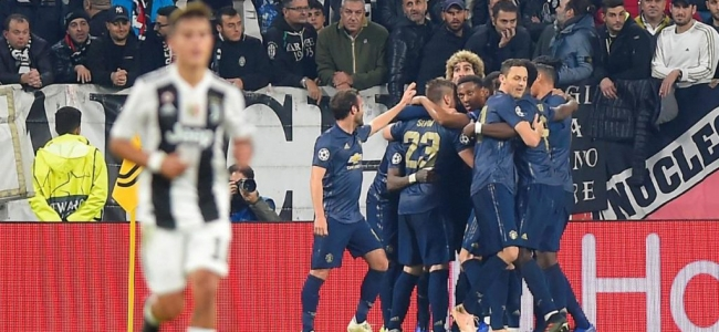 Juventus absurdly lose to Manchester United