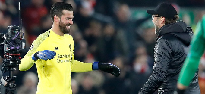 Alisson takes Liverpool to play-offs
