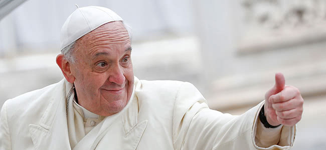 The pope suggests changing gambling business