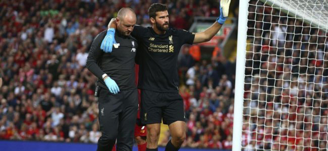 Liverpool goalkeeper Alisson Becker will not help his team in the upcoming matches of the EPL and the UEFA Super Cup
