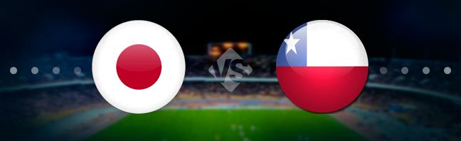 Japan national football team meets Chile national football team at the Morumbi Stadium in the Copa America.